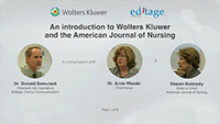 Part 1 - An introduction to Wolters Kluwer and the American Journal of Nursing