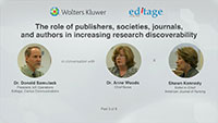 Part 3 - The role of publishers, societies, journals, and authors in increasing research discoverability