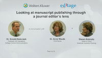 Part 4 - Looking at manuscript publishing through a journal editor's lens