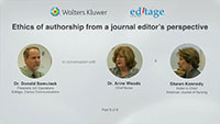 Part 8 - Ethics of authorship from a journal editor's perspective